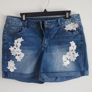Lane Bryant Cuffed Denim Shorts